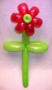 balloons twisted into the shape of a flower