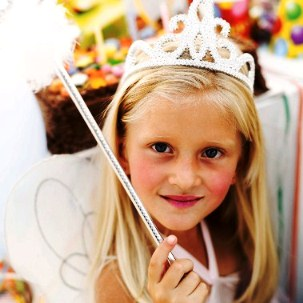 Girl Dressed as a Fairy for a Birthday Party --- Image by © Royalty-Free/Corbis