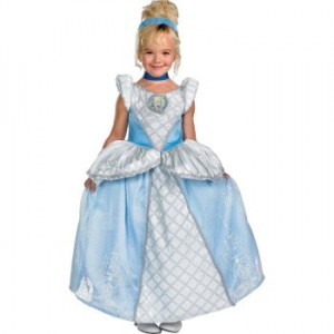 Toddler wearing Princess Cinderella Costume