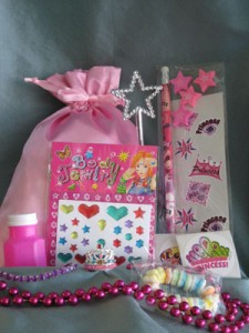Princess party favor bag