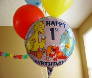 First Birthday Balloon
