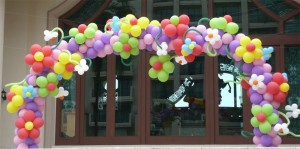 balloons around entrance