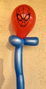 balloon twisting with spiderman design