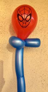 balloon twisting with spiderman design
